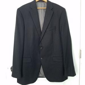 100% Cashmere Jacket Hart Schaffner Marx Black 44L